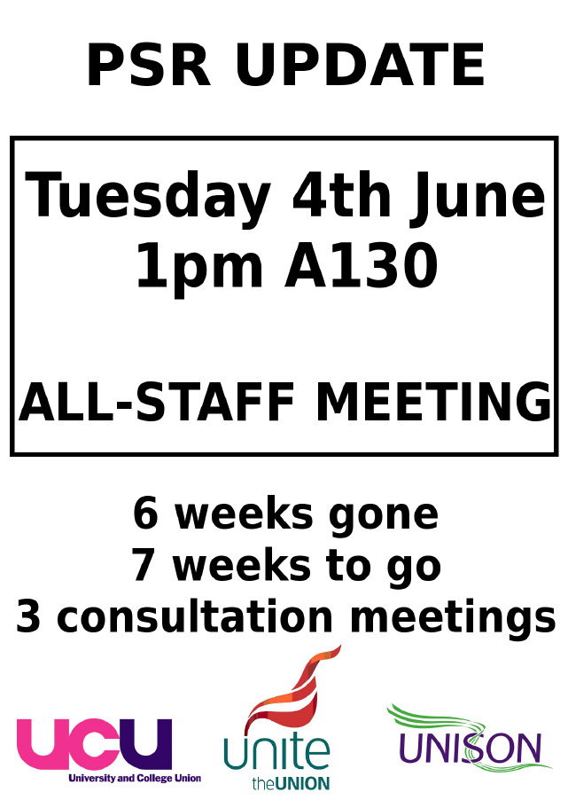 Professional Services Review Update All Staff meeting 4th June 2013 1pm A130